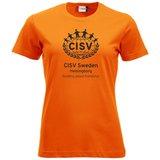 T-shirt CISV Helsingborg, bomull, orange
